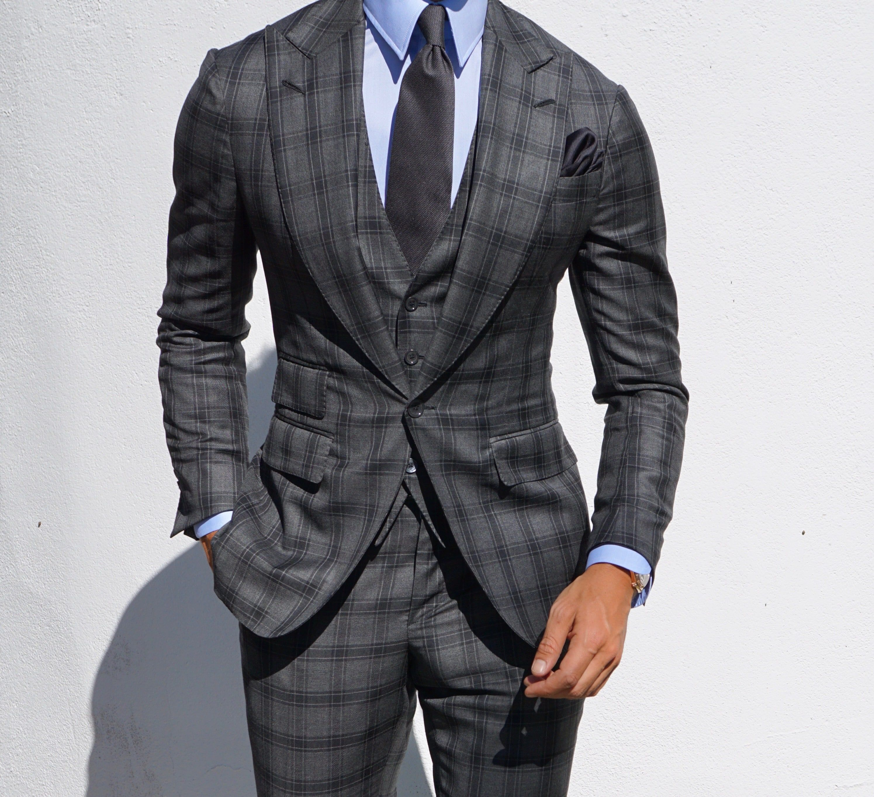 Grey suit by Absolute Bespoke