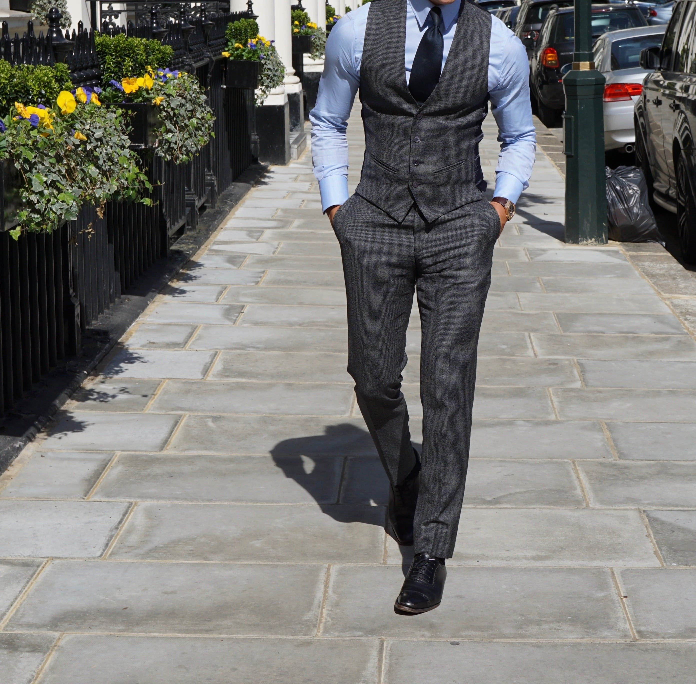 Grey suit by Absolutebespoke