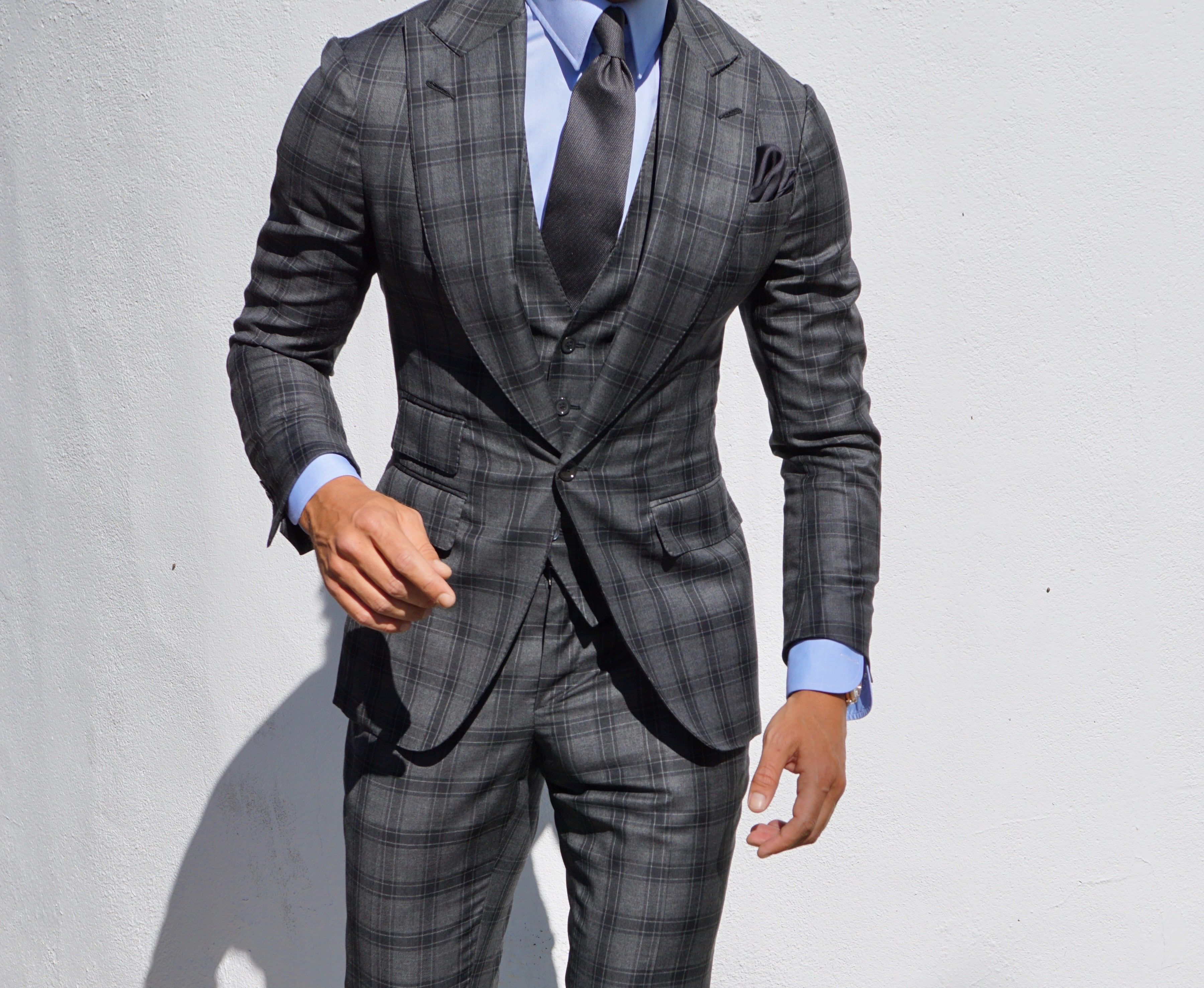 Tailor made grey suit by Absolute Bespoke